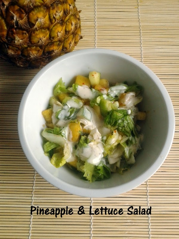 Pineapple & Lettuce Salad