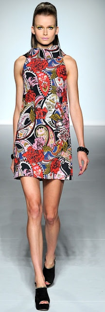 paisley print 60s dress ppq ss 2013
