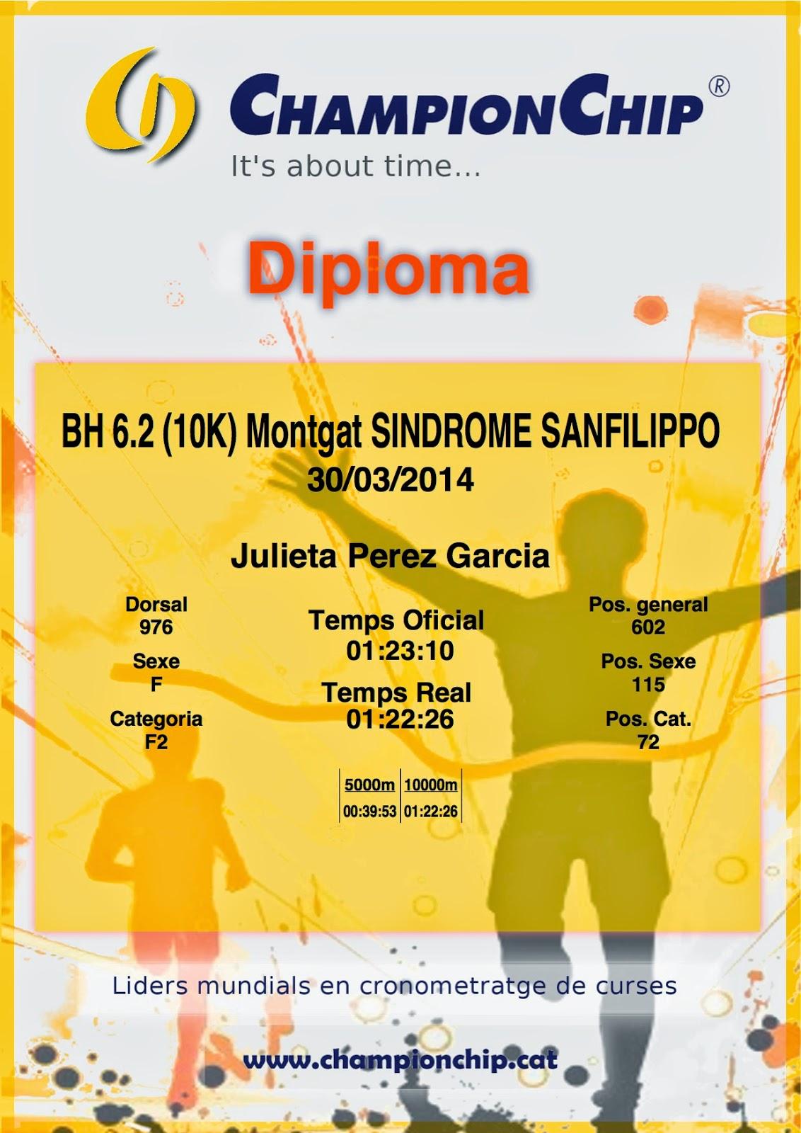 BH Montgat Síndrome de Sanfilippo 10km