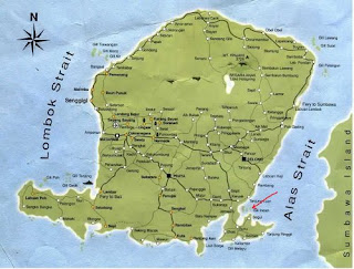 lombok map