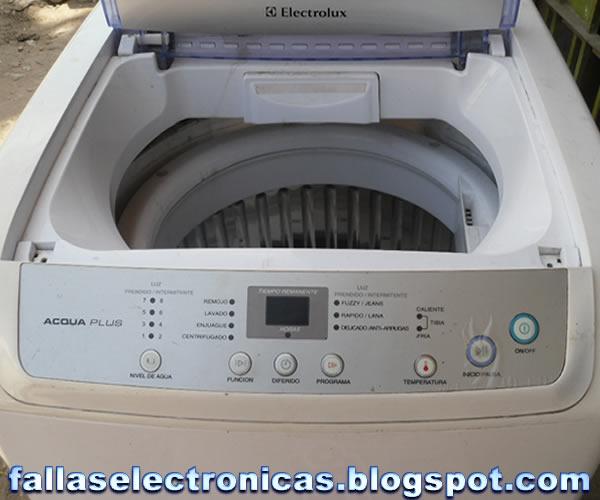 Como reparar lavarropas electrolux
