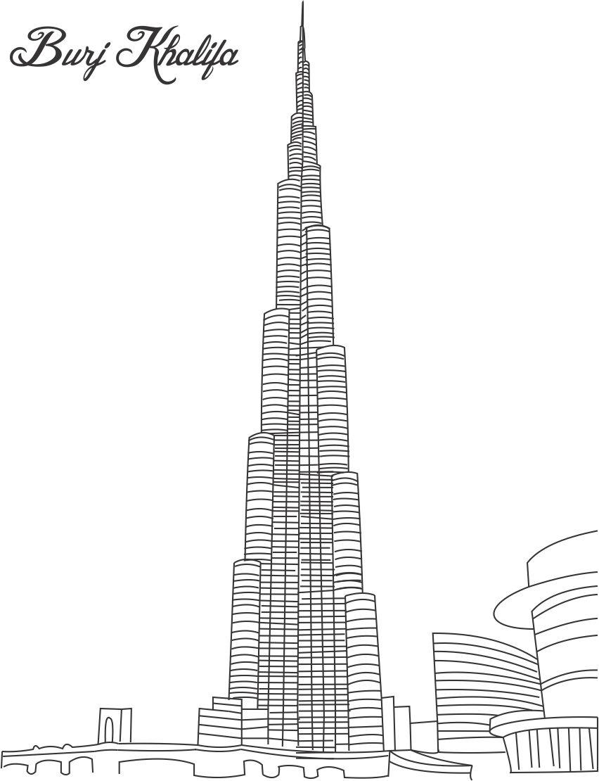 Burj khalifa burj dubai in dubai uae gallery for Burj khalifa sketch