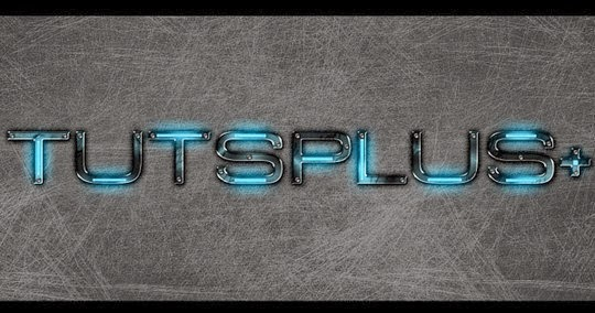 A Futuristic, Grungy Metal Text Effect