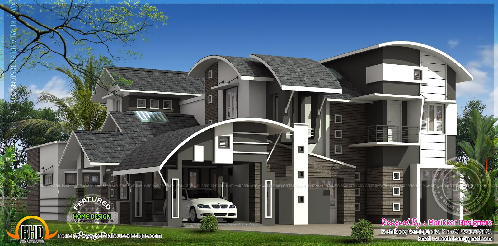 3450 square feet luxury residence kerala home design and for House designers
