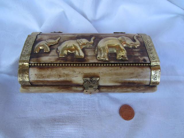 Indian Bone Jewelry Box