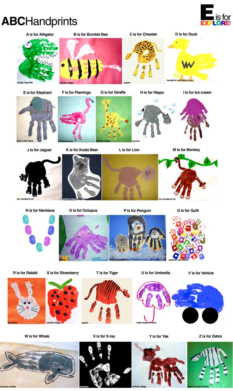 kindergarten tales handprint idea. Black Bedroom Furniture Sets. Home Design Ideas