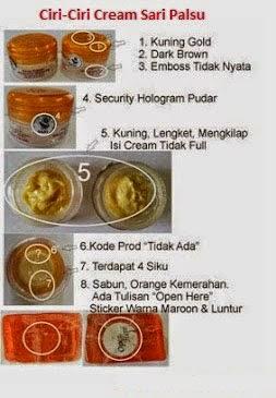 cream sari palsu