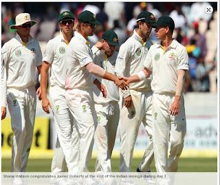 Shane-Watson-Xavier-Doherty-India-v-Australia-2nd-Test