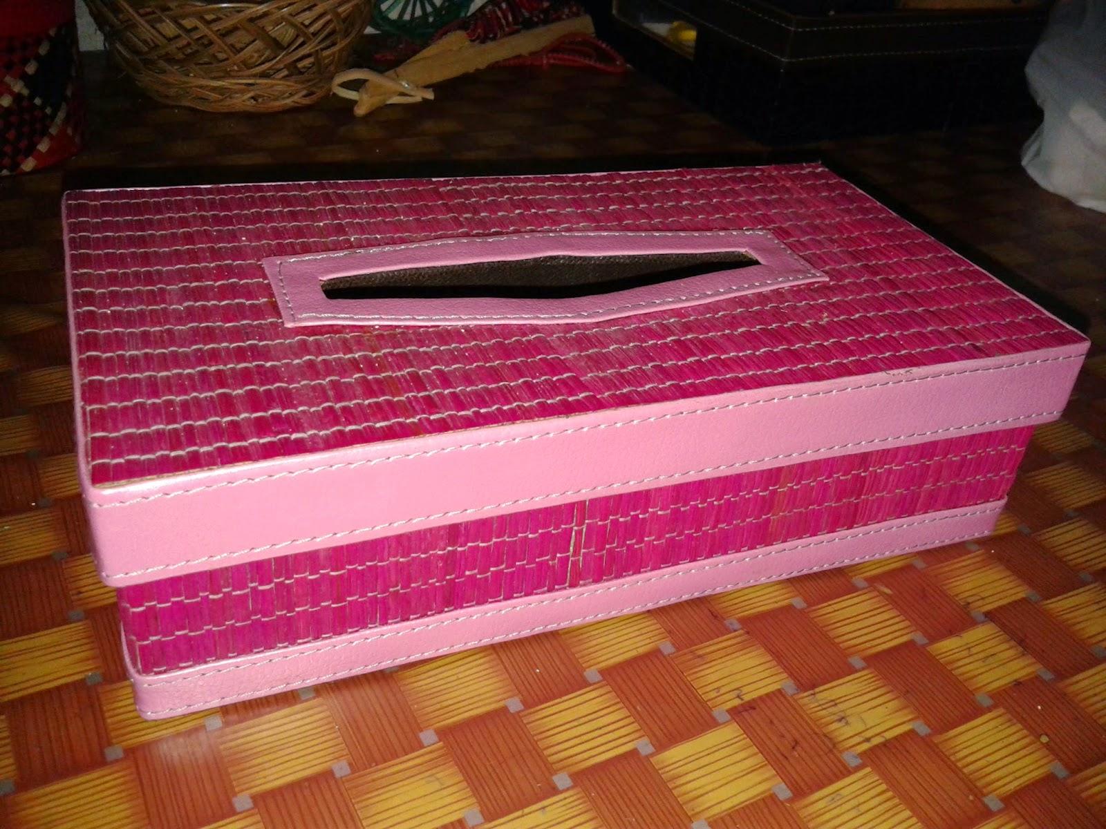 Kotak tisu natural kerajinan rajapolah