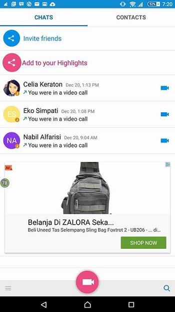 Tampilan Awal Aplikasi IMO - Blog Mas Hendra