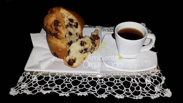 Mini panetone e cafezinho