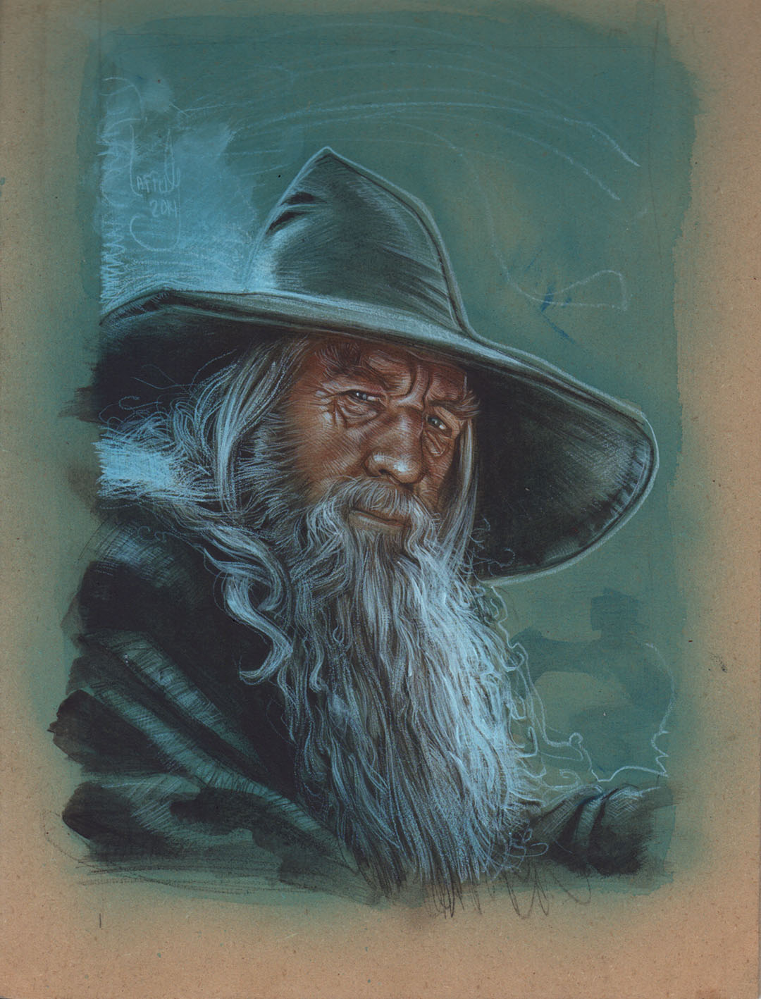 Ian McKellen as Gandalf, Artwork is Copyright © 2014 Jeff Lafferty
