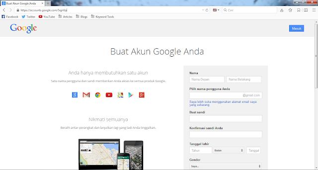 cara membuat akun email google