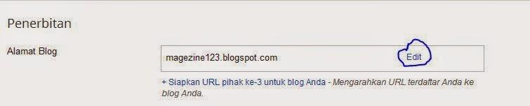 Cara mengganti URL Blog
