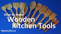 selection of wooden kitchen tools