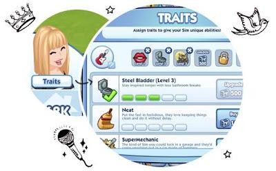 Preencha os Traits do sim no The Sims Social do Facebook