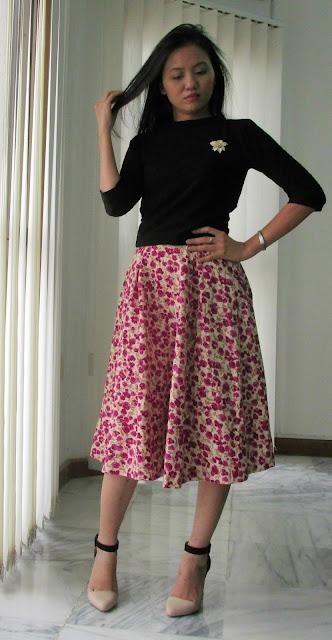 Darlene's Floral Circle skirt