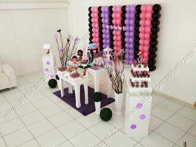 Decoração de aniversário infantil Monster High