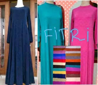 Gamis Jersey Fitri (Non Rempel) Jersey