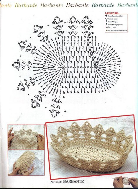 Вязание пасхальной корзинки с описанием 47