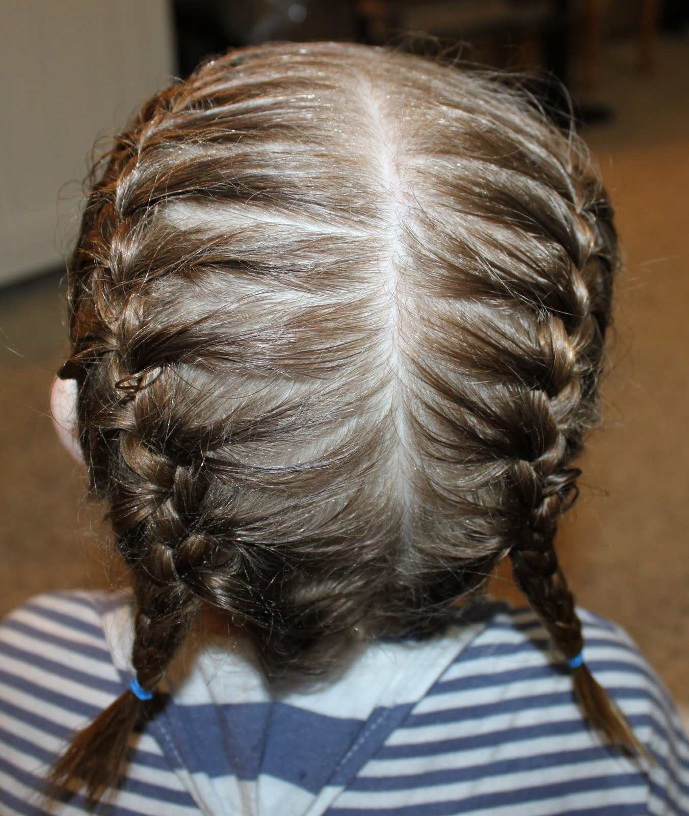 Toddler Hairstyle French Braid