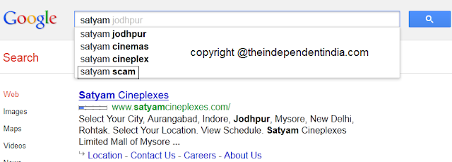 Satyam scam on google