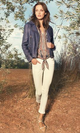 Massimo Dutti primavera 2013 moda cazadora de cuero mujer