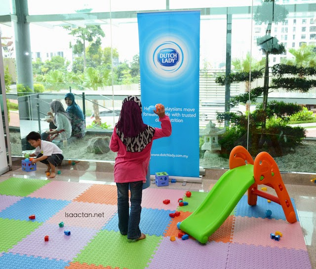 While the parents undergo the workshop, children can play at designated areas