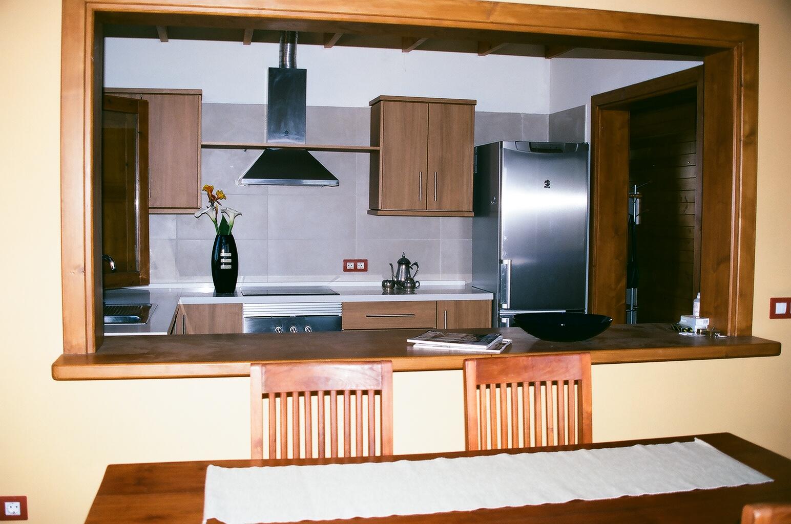 Vivienda unifamiliar centro valle - Pasaplatos cocina ...
