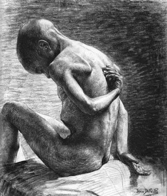 Crayon sur papier de Jean Delville