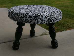 Shabby Chic Footstool  *SOLD*