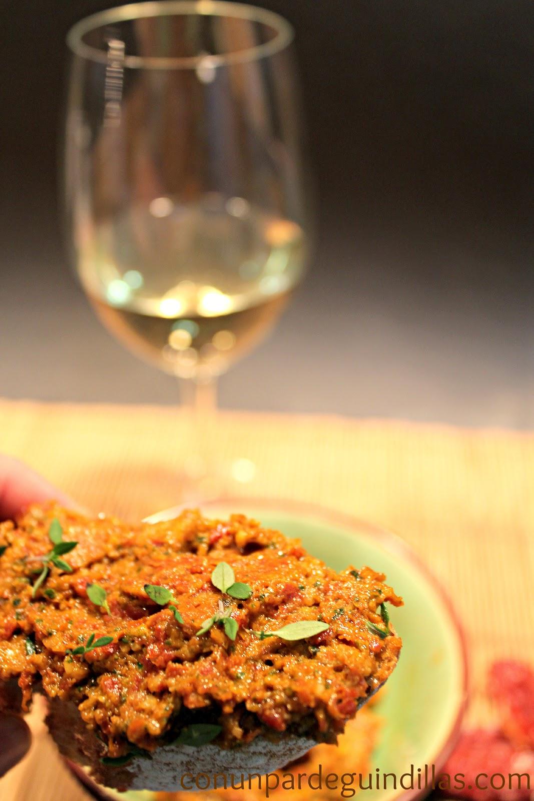 Pesto rojo con anchoas