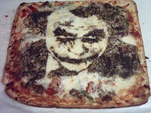 Batman Shaped Pizza