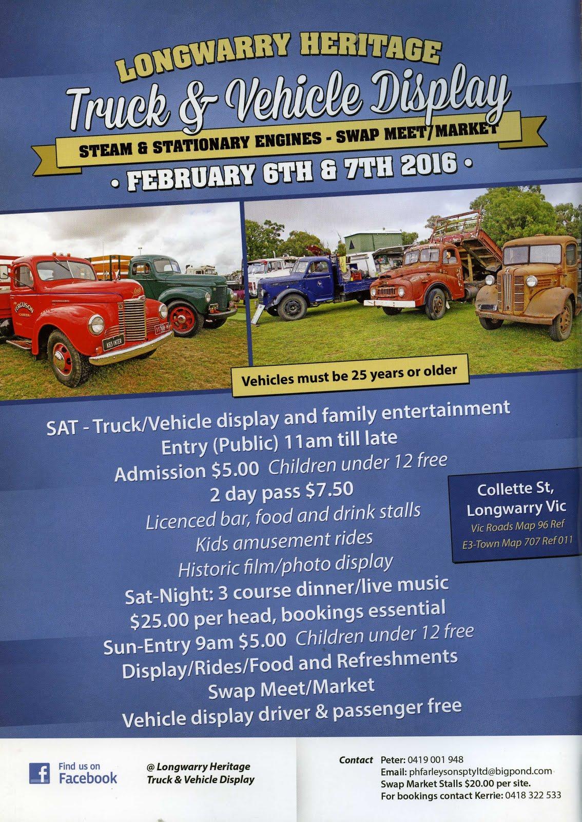 Longwarry Heritage Truck Show February 6 & 7 2016