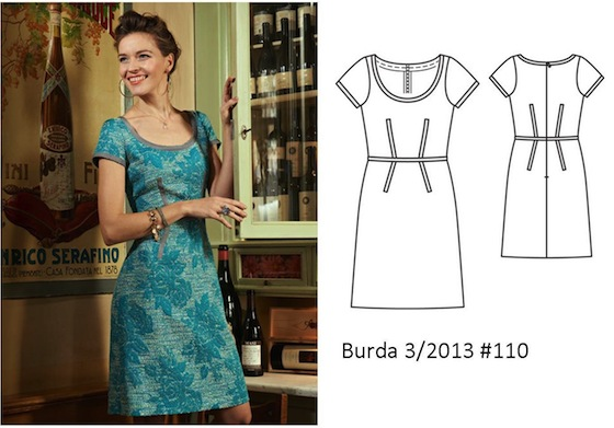 Burda 3/2013 #110 floral dress www.loweryourpresserfoot.blogspot.com