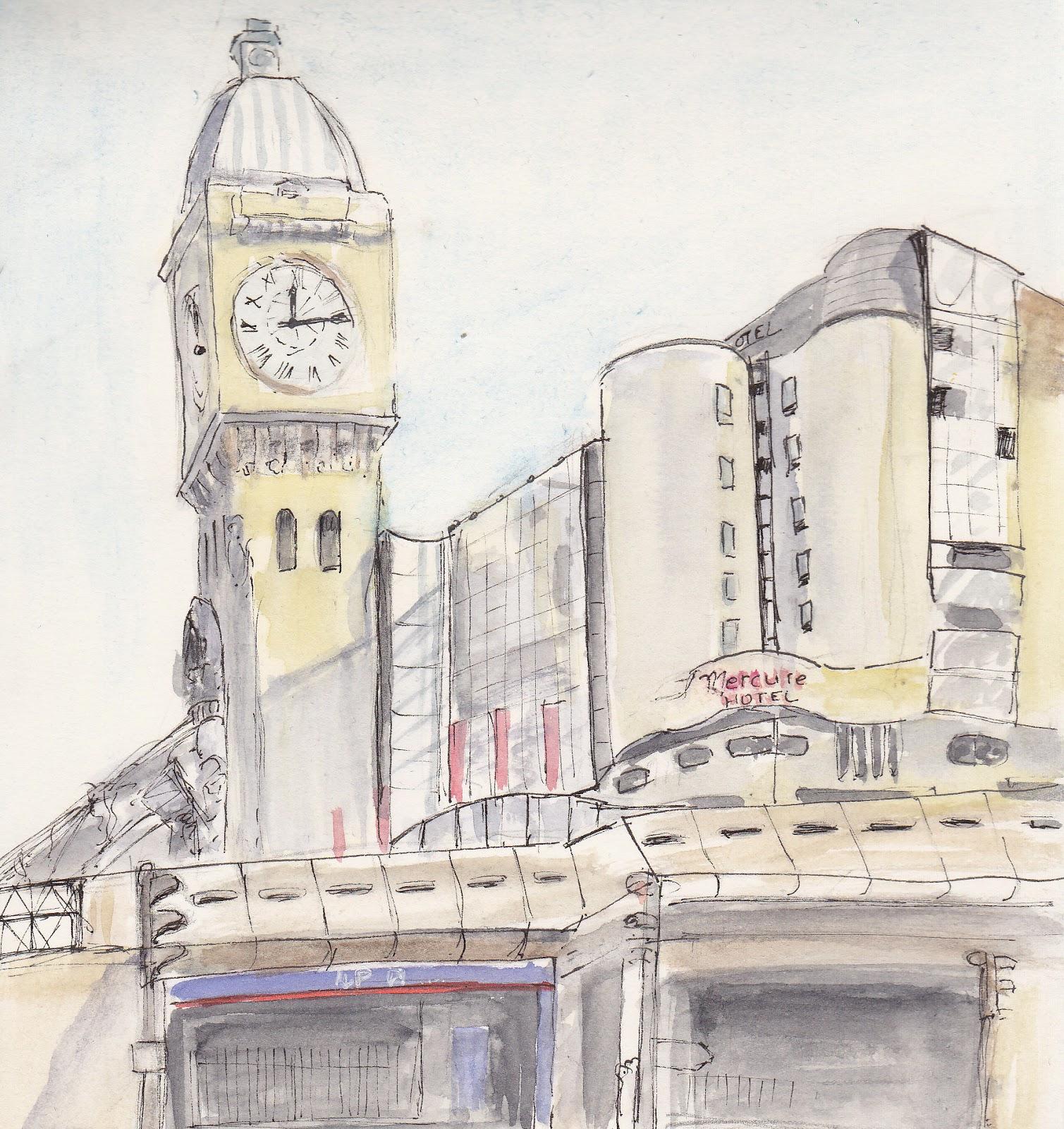 Urban sketchers paris dimanche la gare de lyon - Gare de lyon jardin des plantes ...