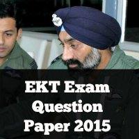 EKT Exam Question Paper 2015