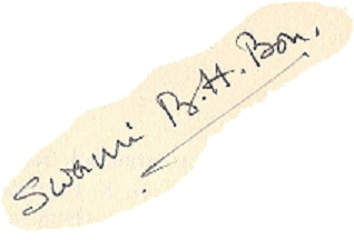 Swami Bon's signature