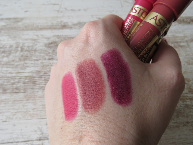 ASTOR Vivid Divine, Elegant Nude, Royal Diva - swatches