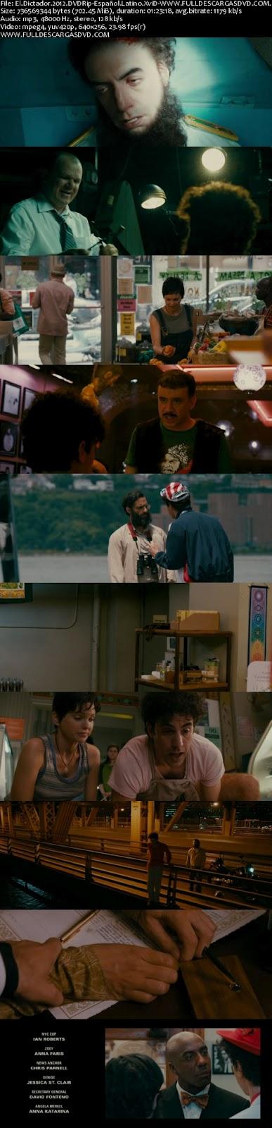 El Dictador 2012 DVDRip Español Latino Comedia Descargar 1 Link