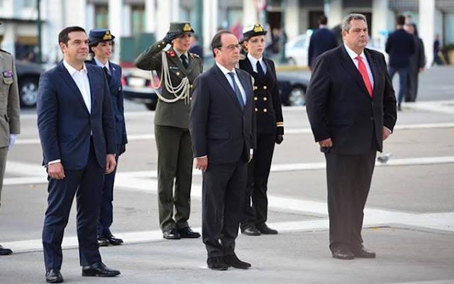 """Διεθνής ξεφτίλα το """"χάζι"""" του Τσίπρα εμπρός στον Άγνωστο στρατιώτη"""