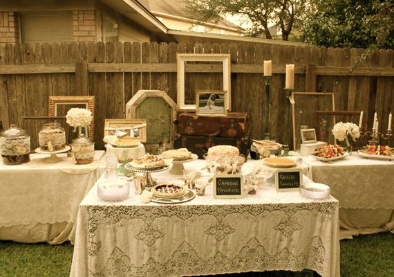 vintage weddings decor