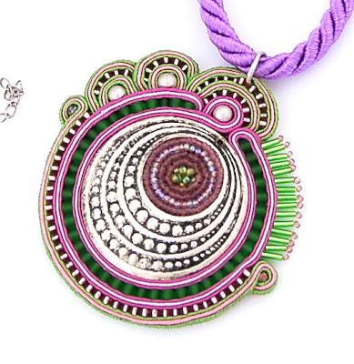 sutasz naszyjnik wisior soutache pendant necklace 12