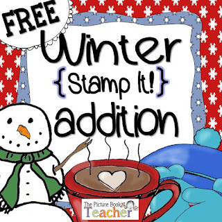 Winter Stamp It Freebie from The Picture Book Teacher.