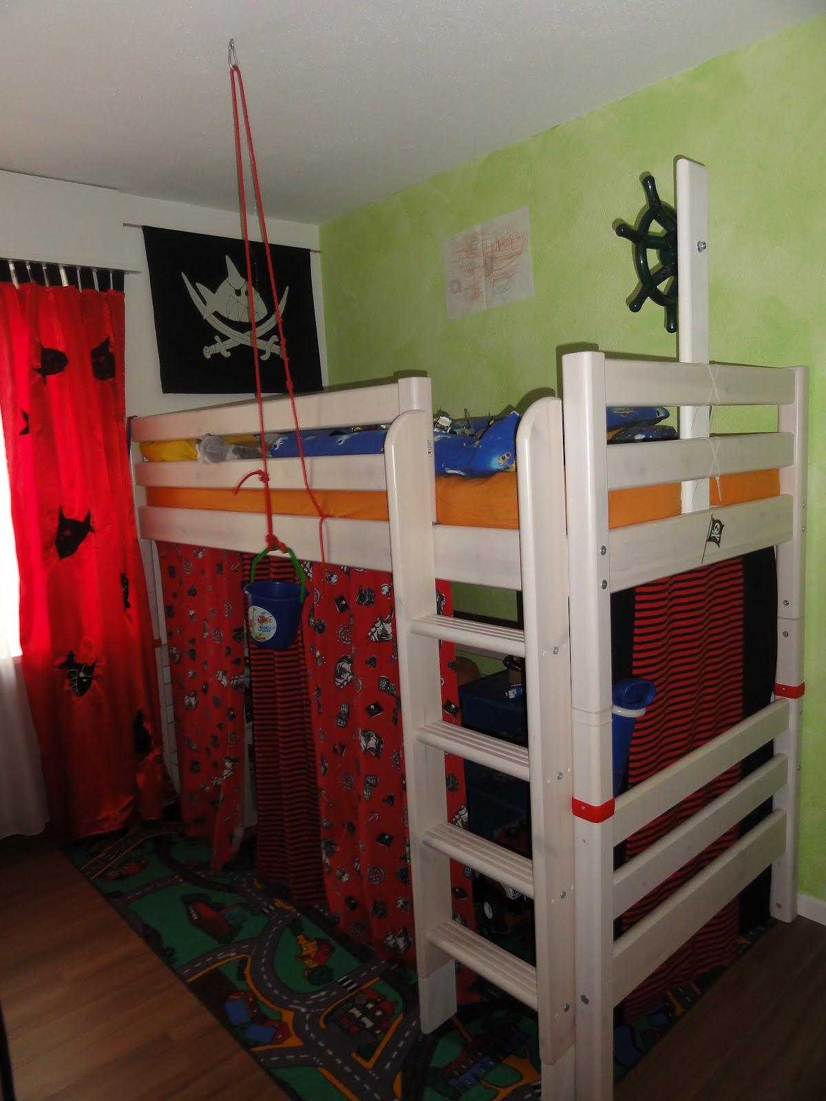 Creazauber schiff ahoi for Schlaufenvorhang kinderzimmer