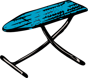 Blue ironing board clipart