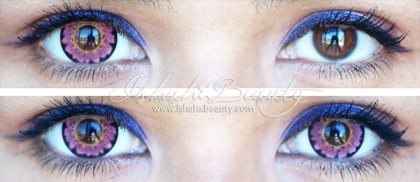Pink Contact Lens Close Up