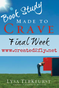 www.created2fly.net: Made to Crave Book Study - Final Week