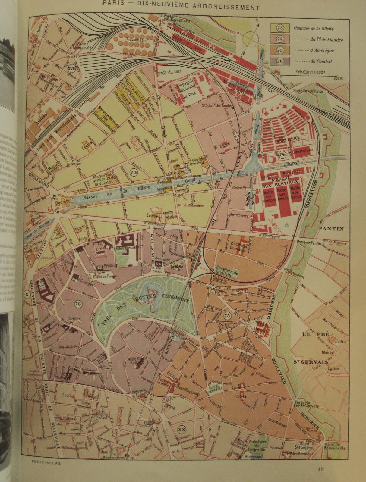 Bournon Paris Atlas 19e Larousse plan