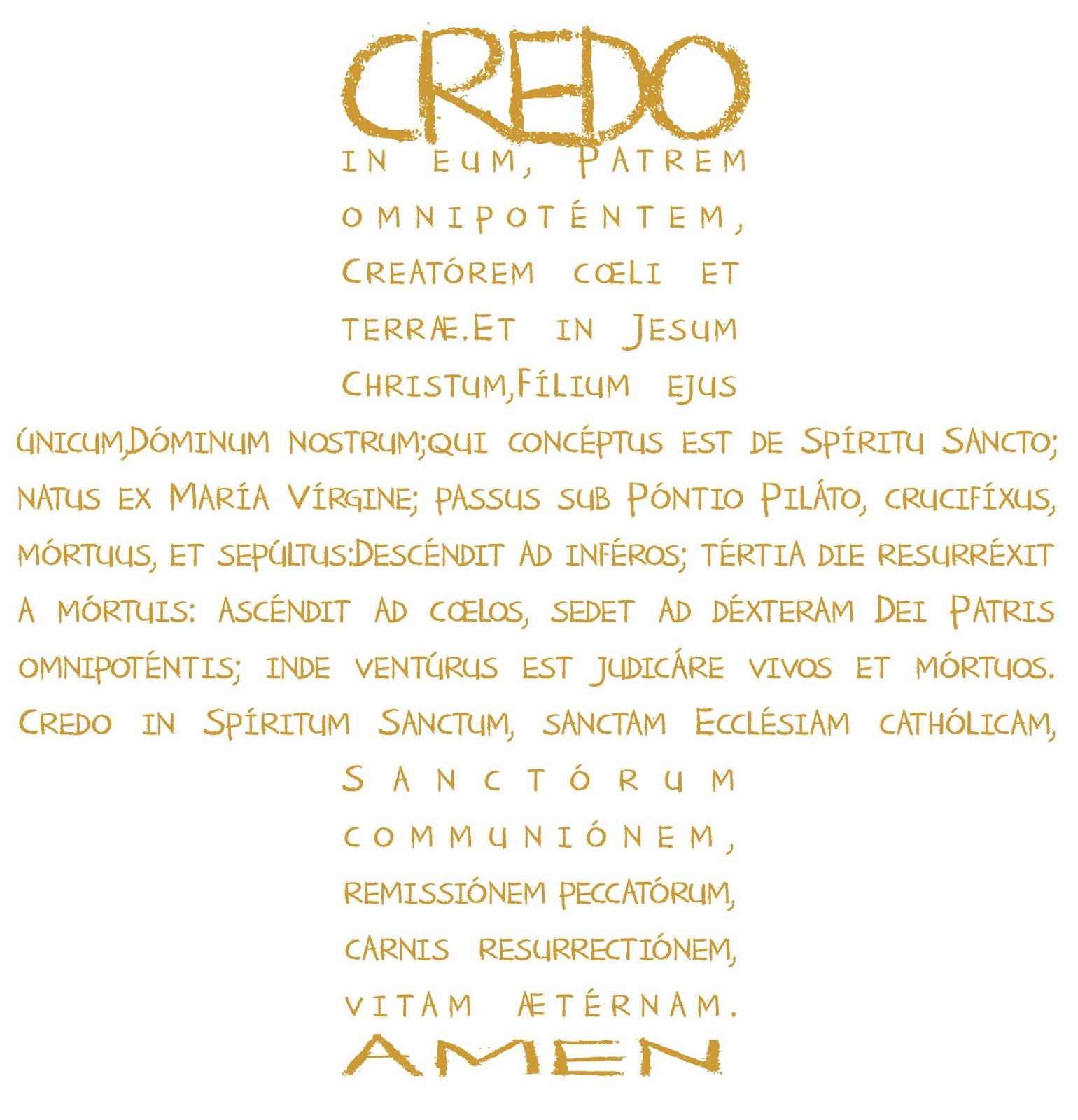 CREDO+EN+LATIN Mi NO Credo personal